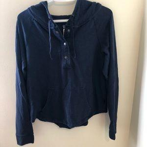 Patagonia navy button snap hoodie